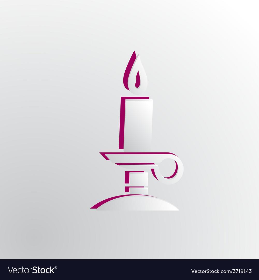 Grey paper magic candle vector   Price: 1 Credit (USD $1)
