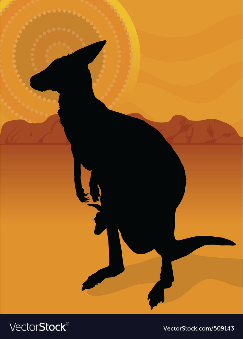 Kangaroo outback vector | Price: 1 Credit (USD $1)