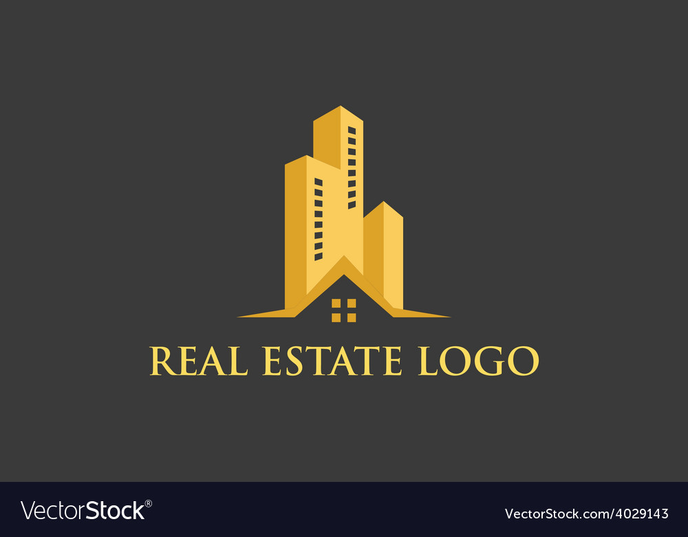 Logo real estate construction vector | Price: 1 Credit (USD $1)