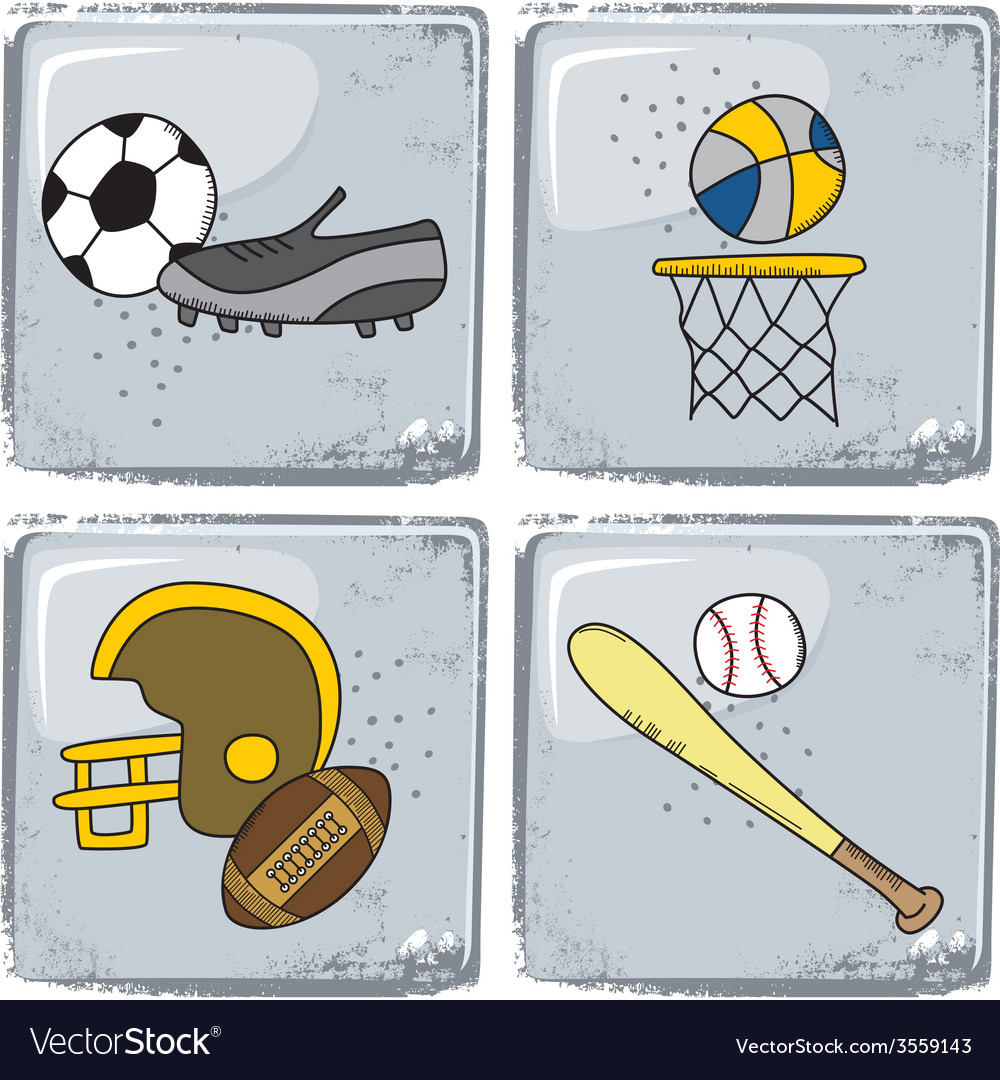 Sports theme vector | Price: 1 Credit (USD $1)