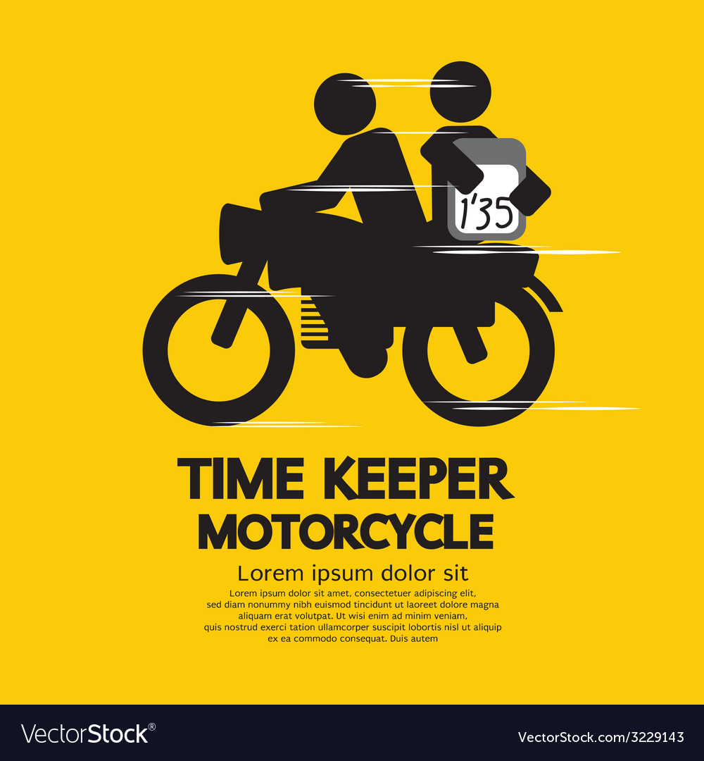Time keeper motorcycle vector | Price: 1 Credit (USD $1)