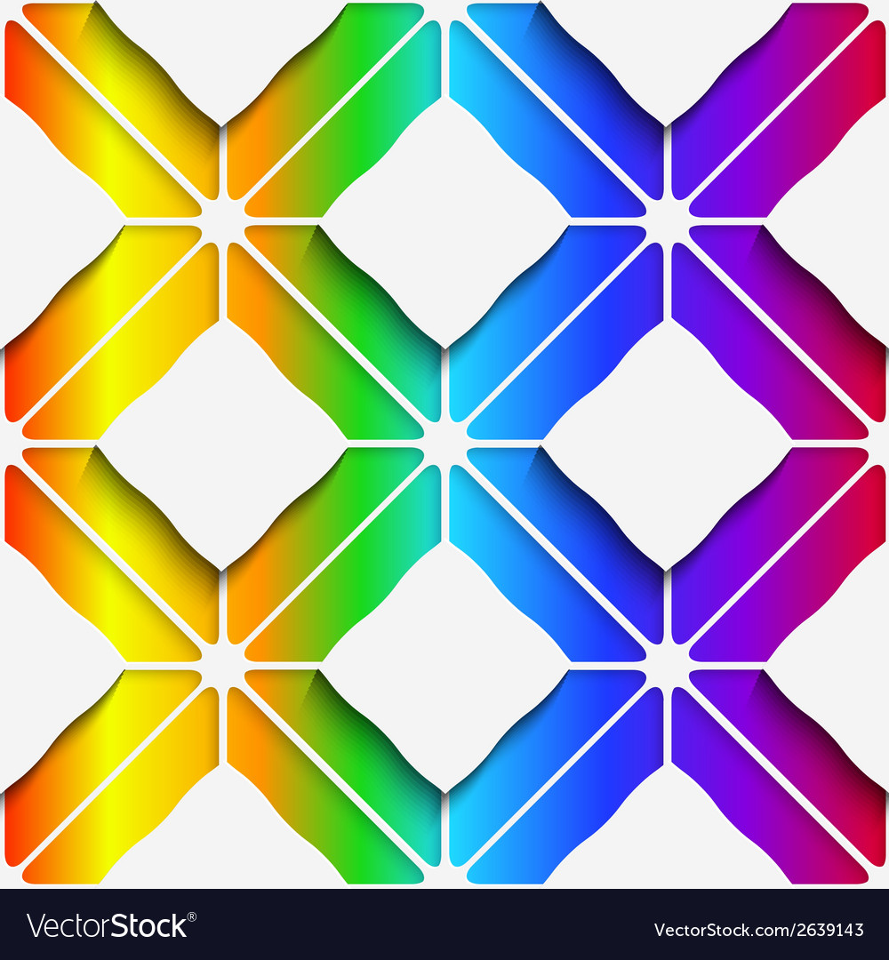 White rectangles ornament on rainbow background vector | Price: 1 Credit (USD $1)