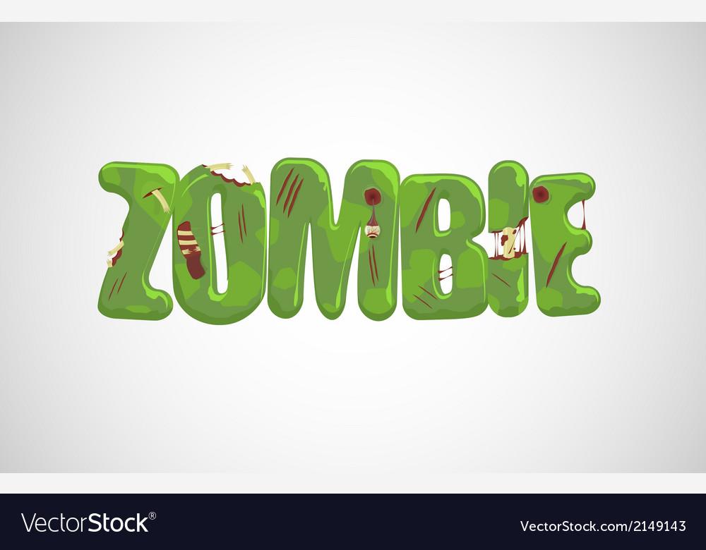 Zombie text vector | Price: 1 Credit (USD $1)