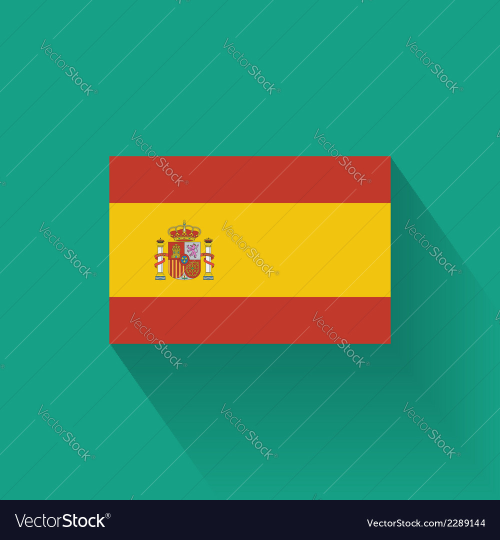 Flat flag of spain vector | Price: 1 Credit (USD $1)