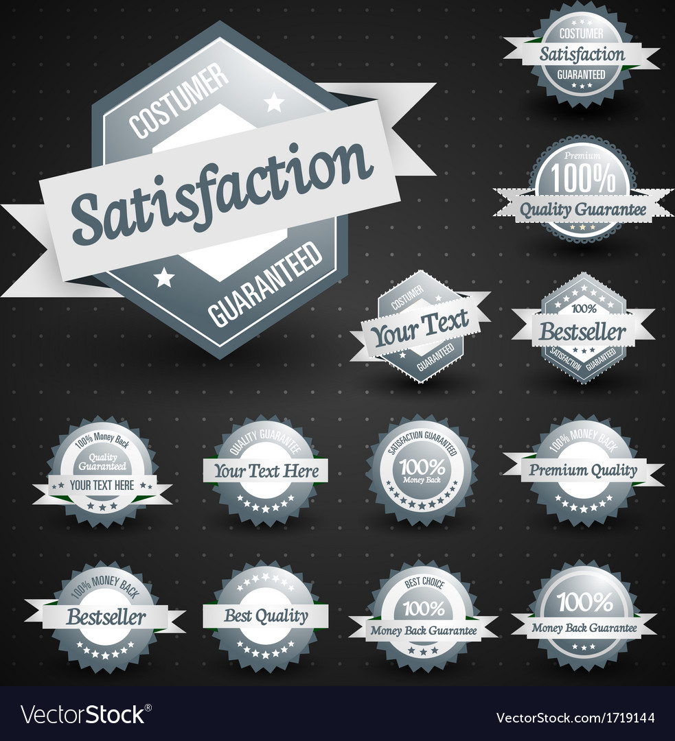 High quality labels collection vector | Price: 1 Credit (USD $1)
