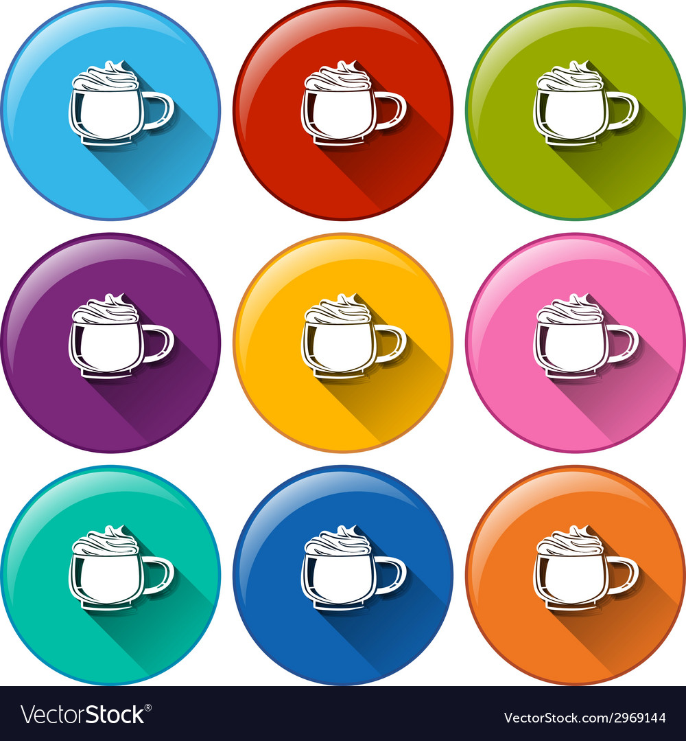 Icons with mugs vector | Price: 1 Credit (USD $1)