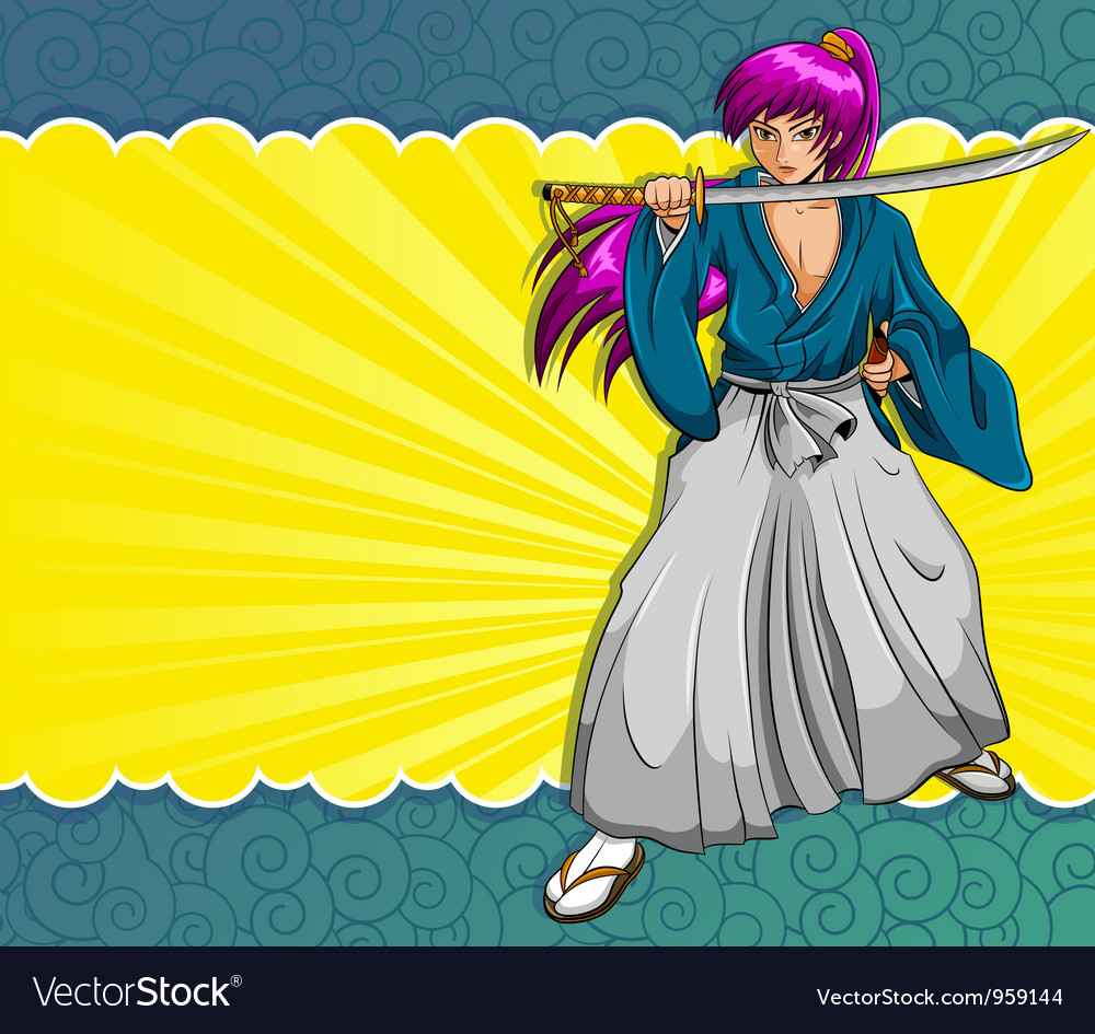 Manga samurai vector | Price: 3 Credit (USD $3)