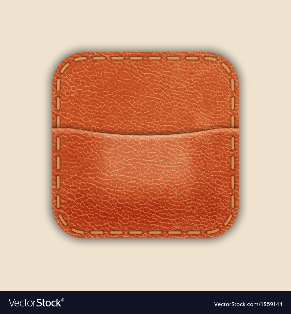 Natural leather pocket or wallet app icon template vector | Price: 1 Credit (USD $1)