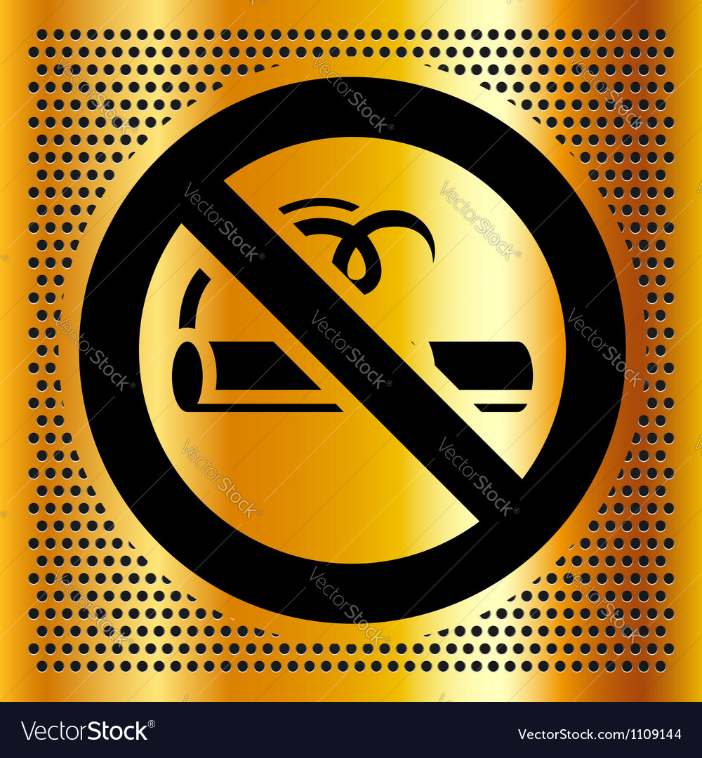 No smoking symbol on a bronze background vector | Price: 1 Credit (USD $1)