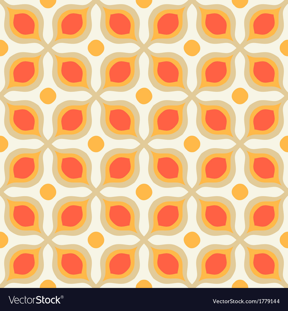 Pattern with bold geometric shapes in 1970s style vector   Price: 1 Credit (USD $1)