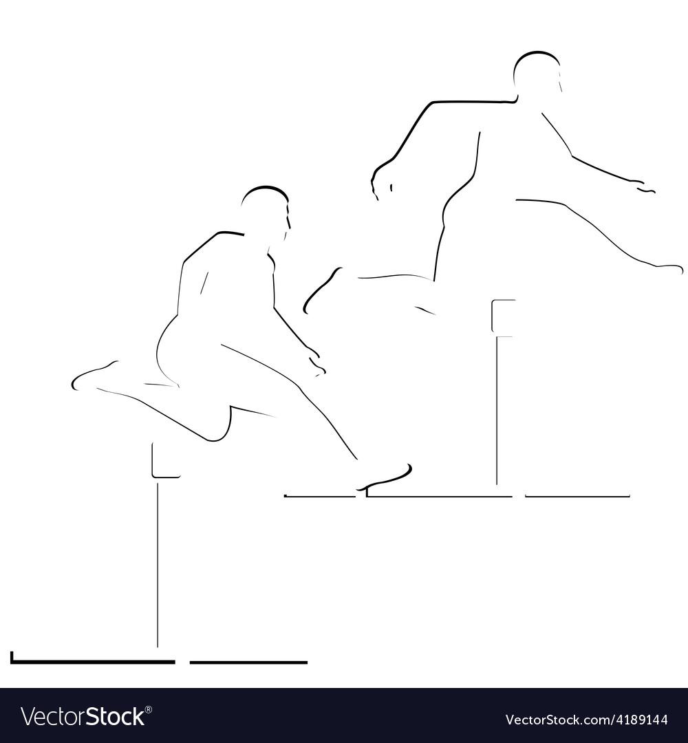 Running hurdles vector | Price: 1 Credit (USD $1)