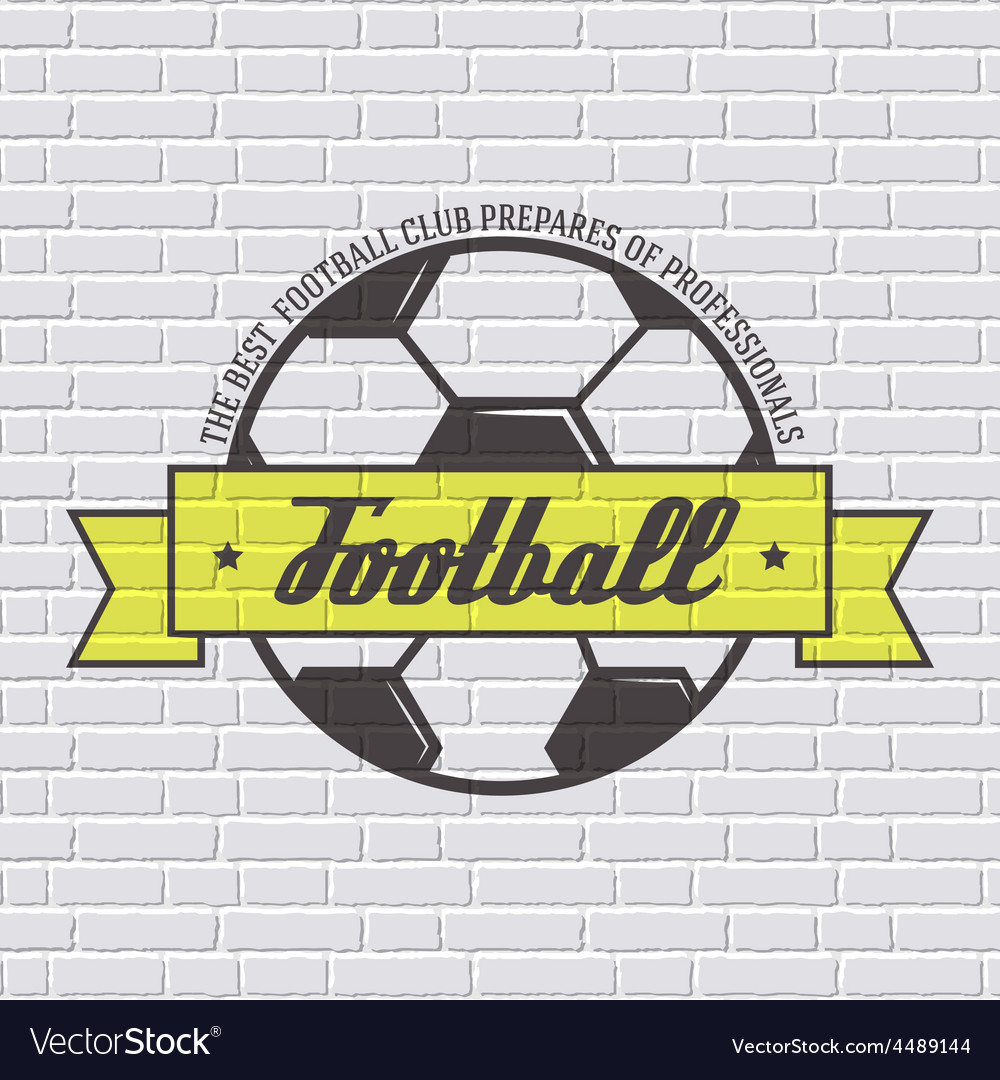 Soccer color logo or label template with blurred vector   Price: 1 Credit (USD $1)
