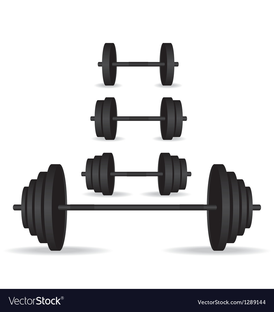 Weights black collection vector | Price: 1 Credit (USD $1)