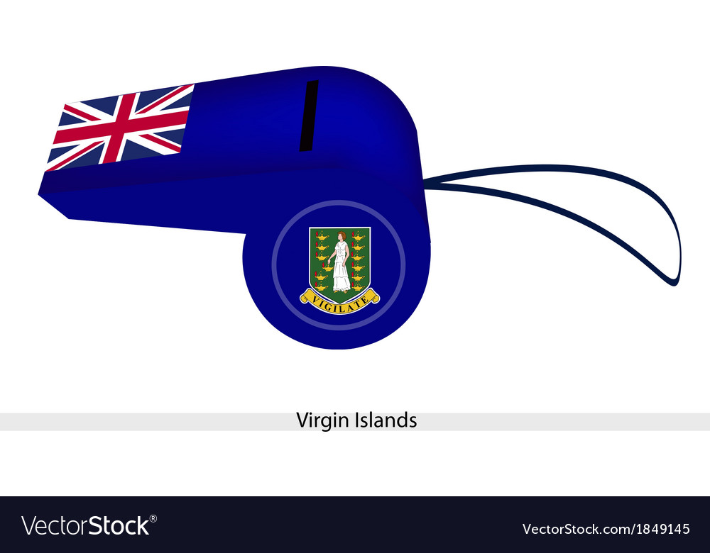 A beautiful blue whistle of virgin islands vector | Price: 1 Credit (USD $1)