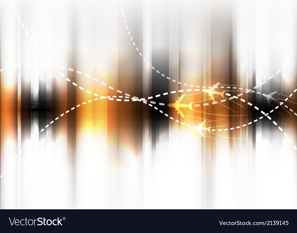 Abstract of airplane routes vector | Price: 1 Credit (USD $1)