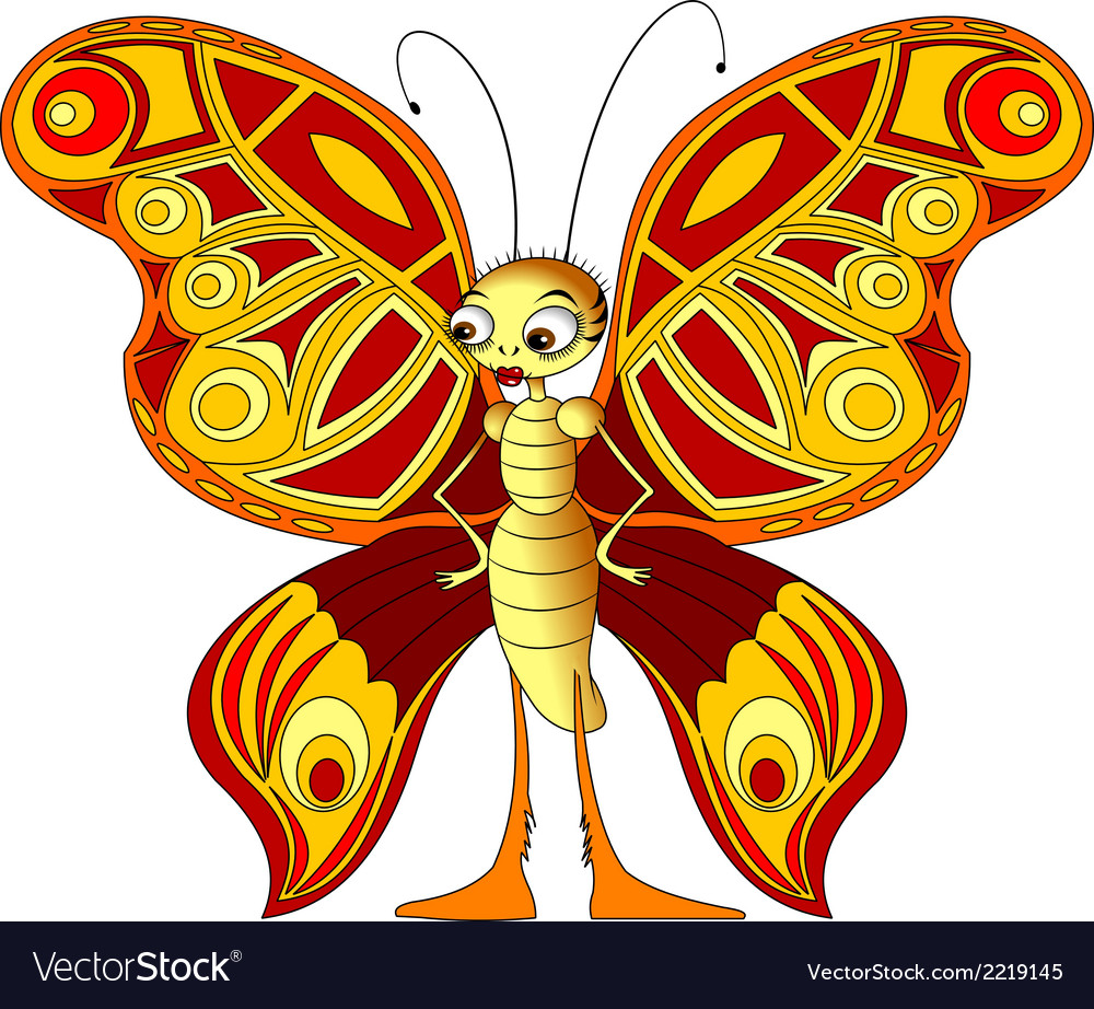 Butterfly cartoon vector   Price: 1 Credit (USD $1)