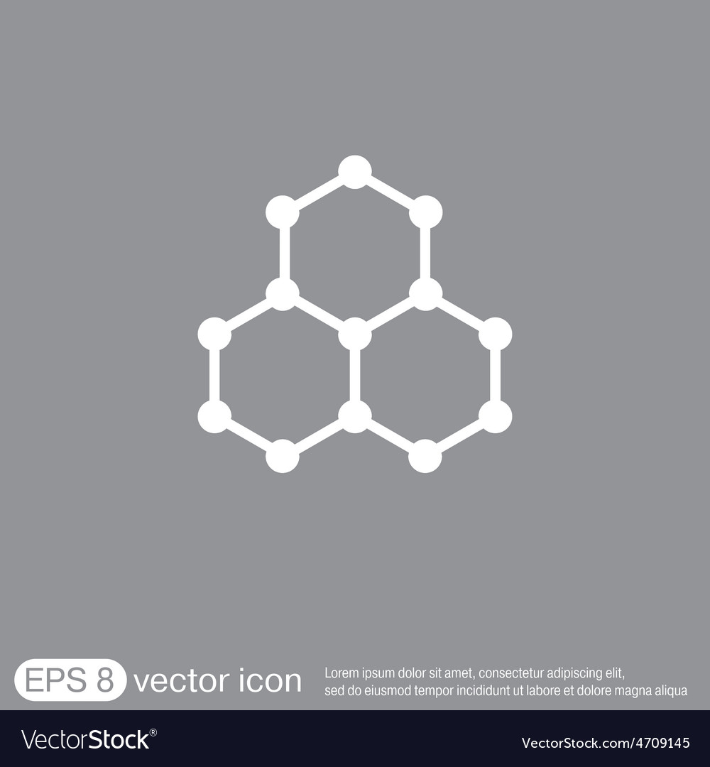 Chemical compound symbol chemistry icon science vector | Price: 1 Credit (USD $1)