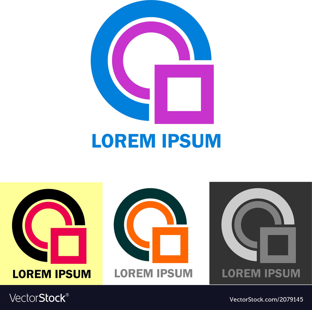 Colorful business logo icons vector | Price: 1 Credit (USD $1)