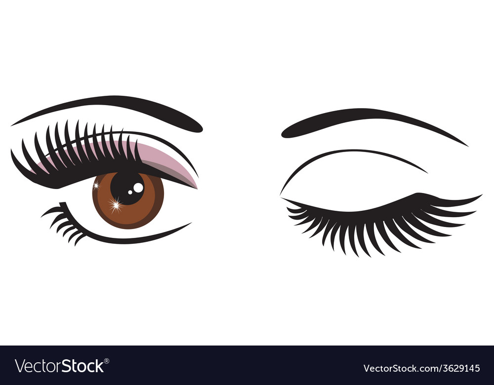 Eye brown wink vector | Price: 1 Credit (USD $1)