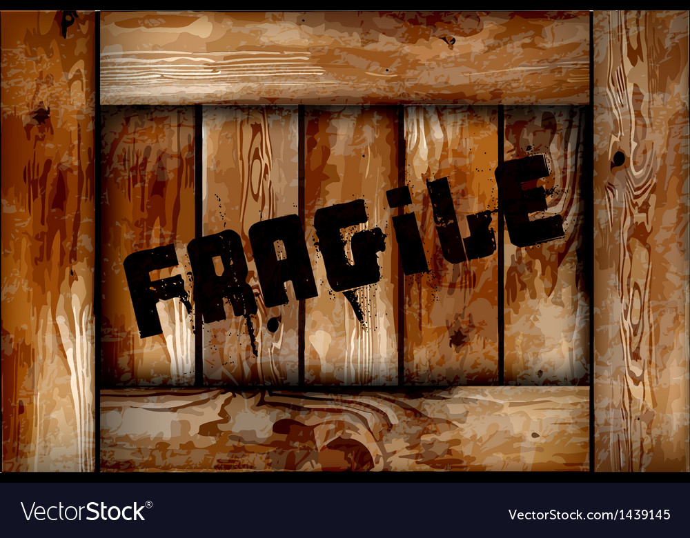 Fragile wooden box background vector | Price: 1 Credit (USD $1)