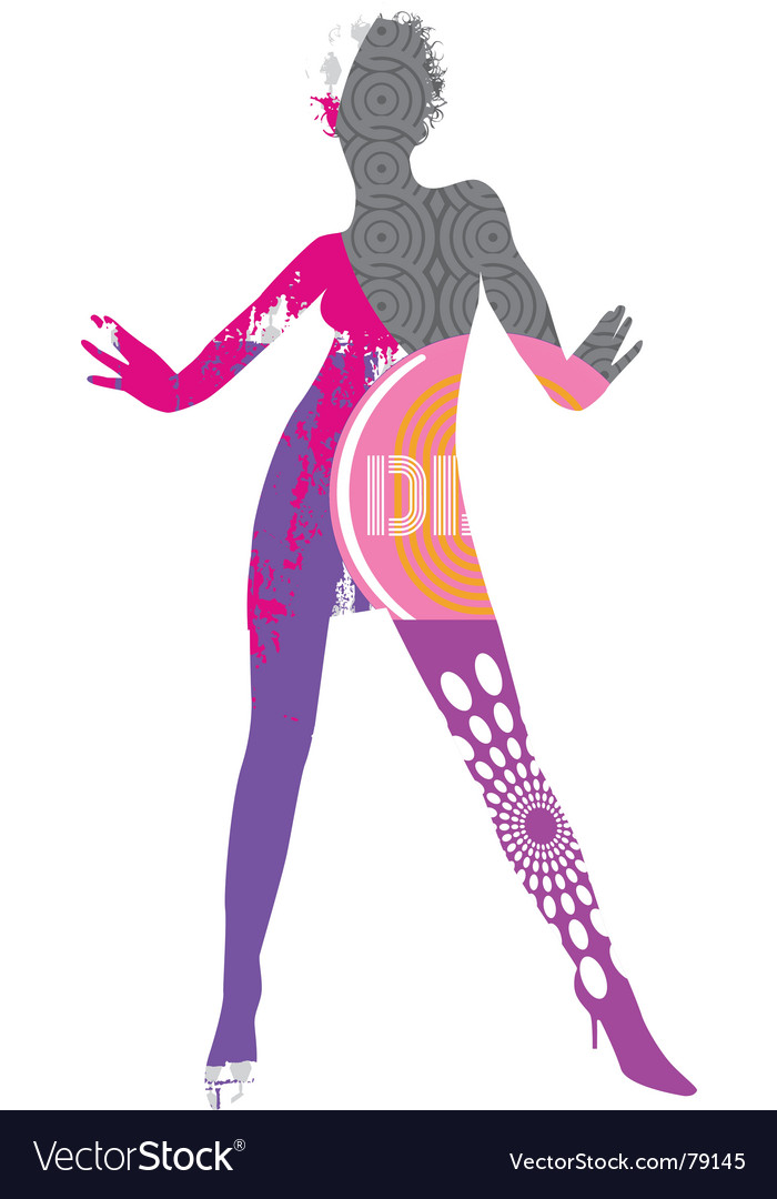 Funky dancer vector | Price: 1 Credit (USD $1)