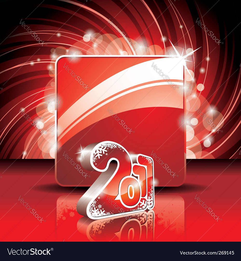 Happy new year 2011 design vector | Price: 1 Credit (USD $1)