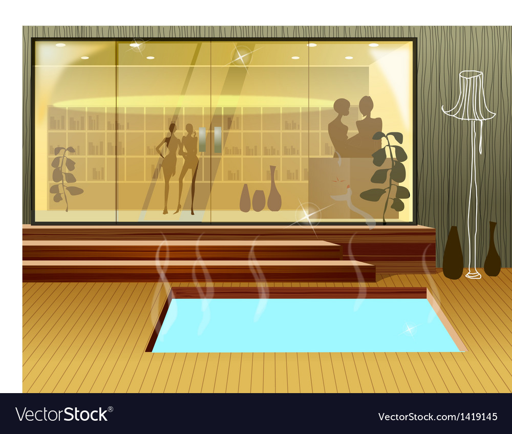 Hot spring tub vector | Price: 1 Credit (USD $1)