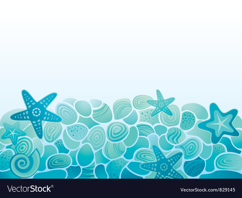 Sea pattern background vector | Price: 1 Credit (USD $1)