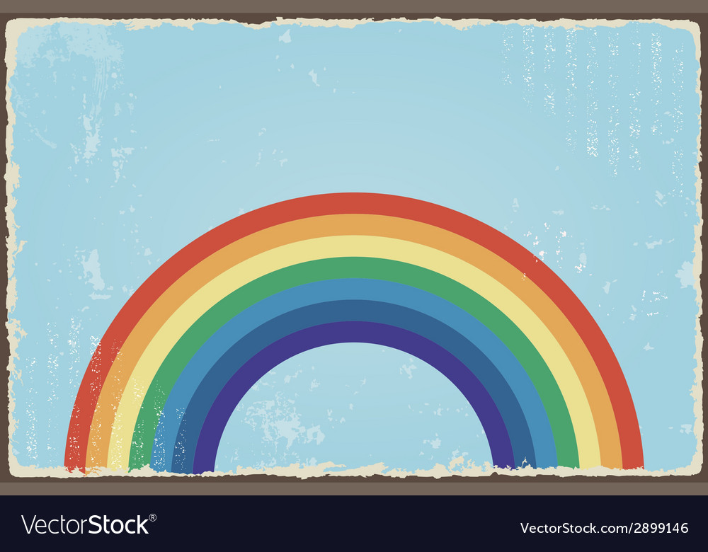 Abstract grunge background with rainbow vector   Price: 1 Credit (USD $1)
