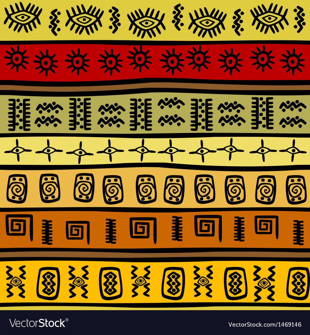 African ethnic pattern tribal vector | Price: 1 Credit (USD $1)