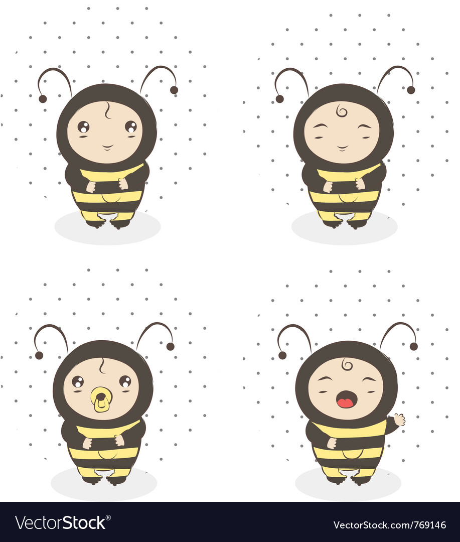 Baby bee vector | Price: 1 Credit (USD $1)