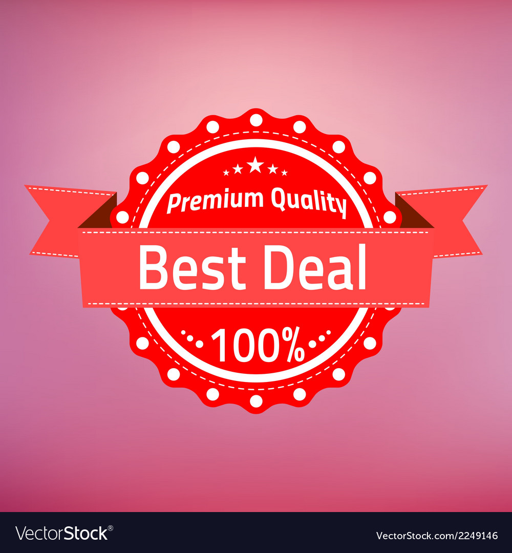 Best deal premium quality badge vector | Price: 1 Credit (USD $1)