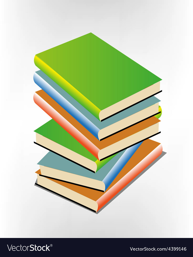 Book pile vector | Price: 3 Credit (USD $3)