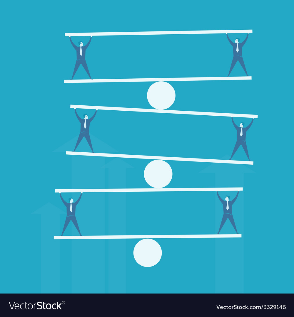 Business man balance beam vector | Price: 1 Credit (USD $1)