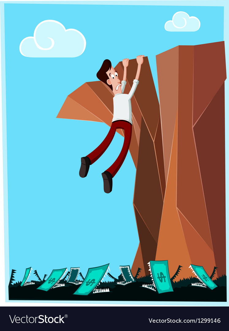 Dangerous cliff vector | Price: 1 Credit (USD $1)