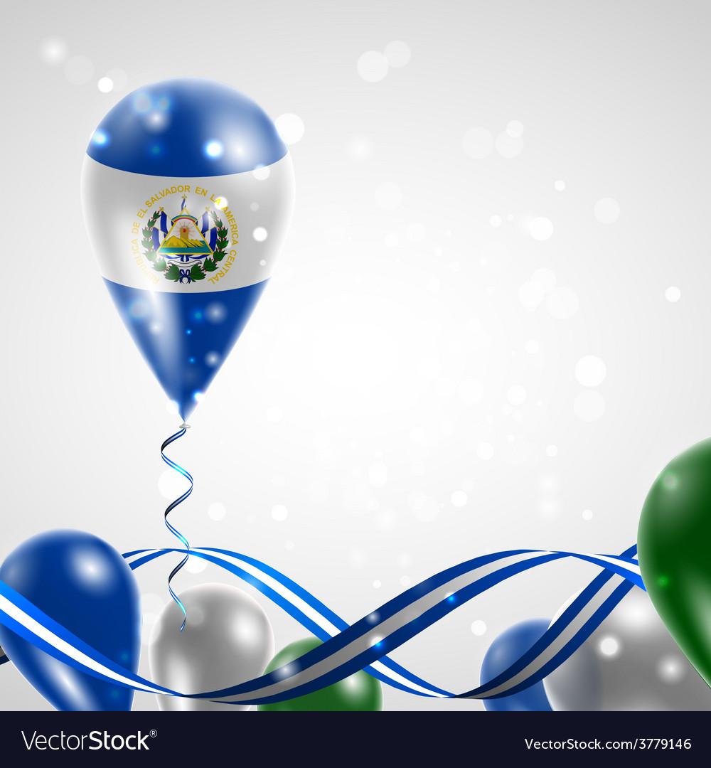 Flag of el salvador on balloon vector | Price: 3 Credit (USD $3)