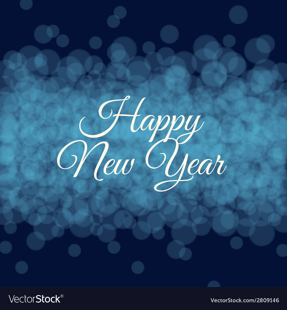 Happy new year card light background vector | Price: 1 Credit (USD $1)