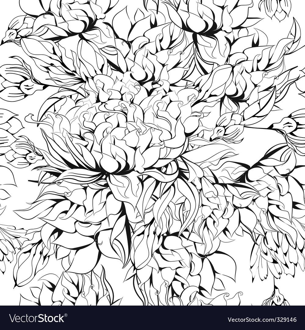 Monochrome seamless background vector | Price: 1 Credit (USD $1)