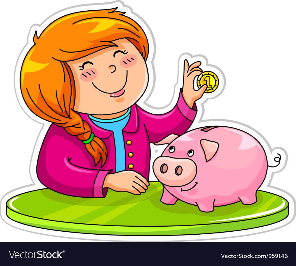 Piggy bank vector | Price: 3 Credit (USD $3)