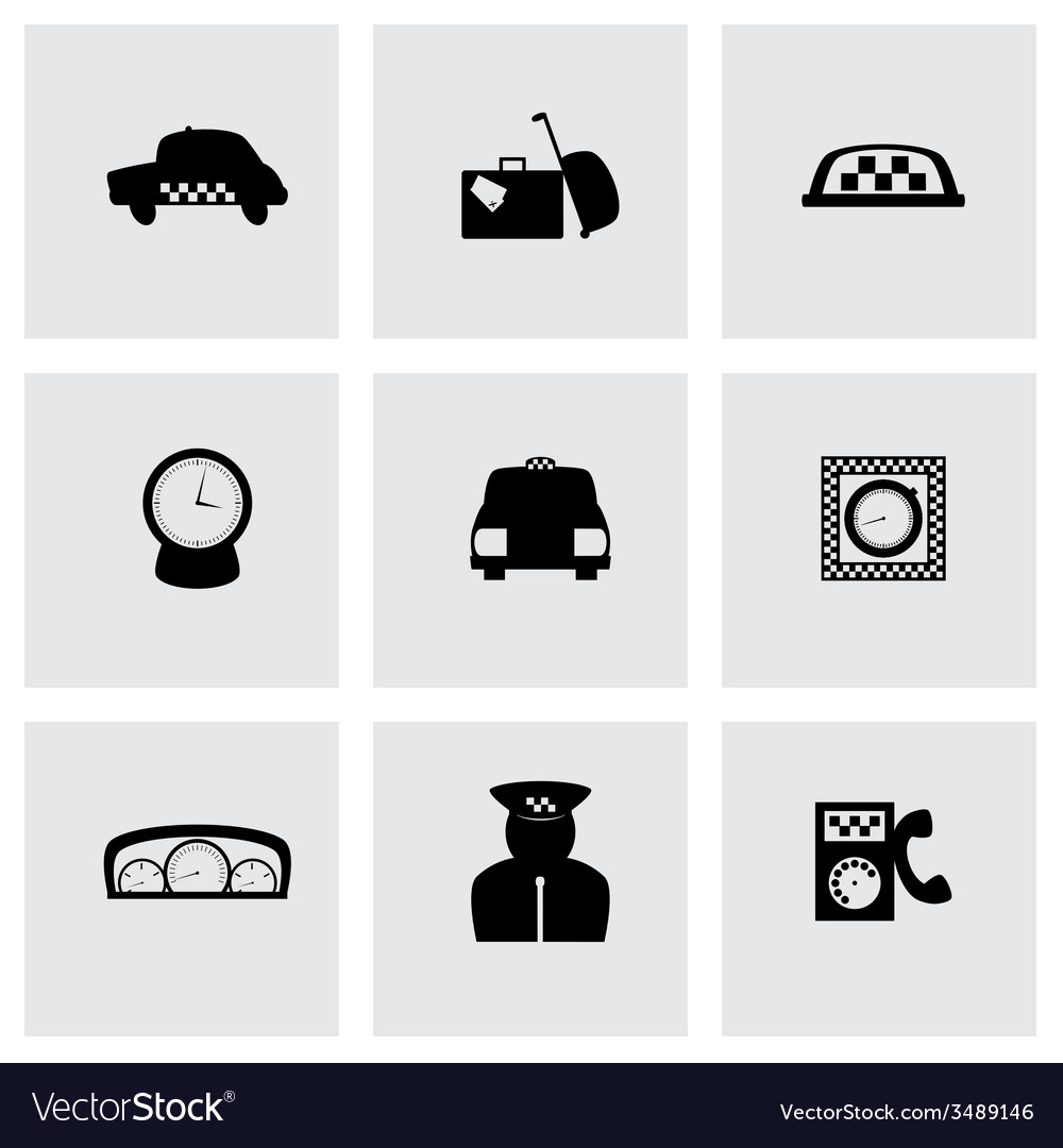 Taxi icon set vector | Price: 1 Credit (USD $1)