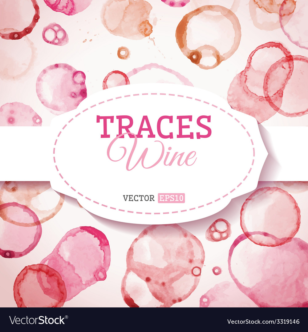 Traces wine background vector | Price: 1 Credit (USD $1)