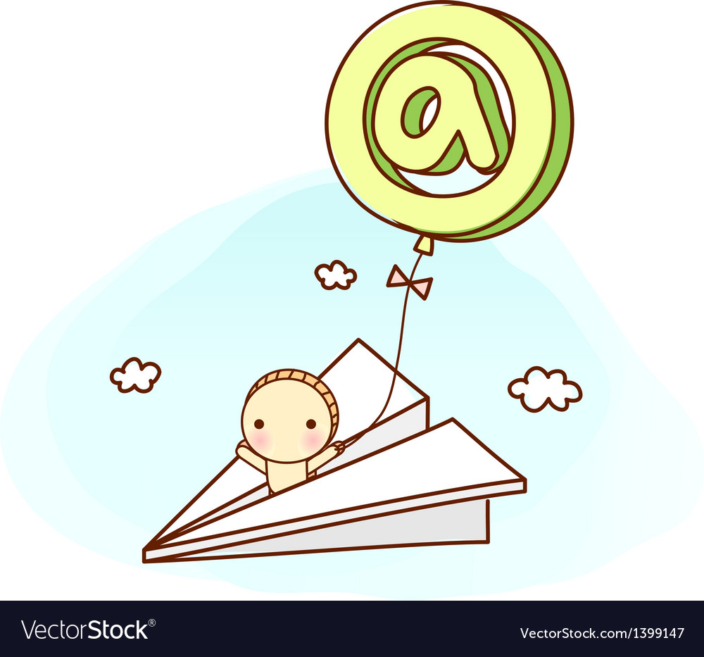 A paper airplane vector | Price: 1 Credit (USD $1)