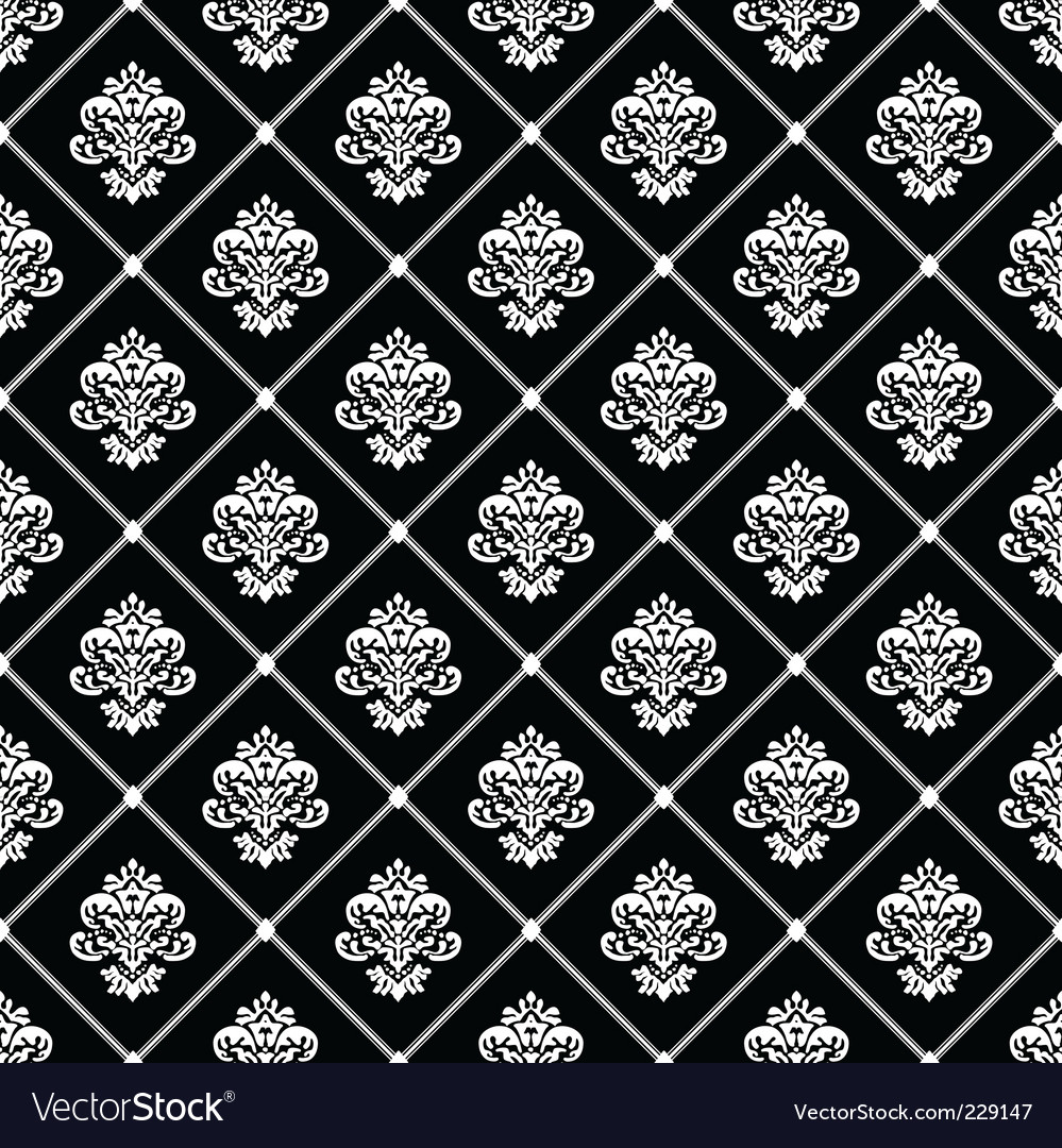 Black diagonal floral pattern vector | Price: 1 Credit (USD $1)