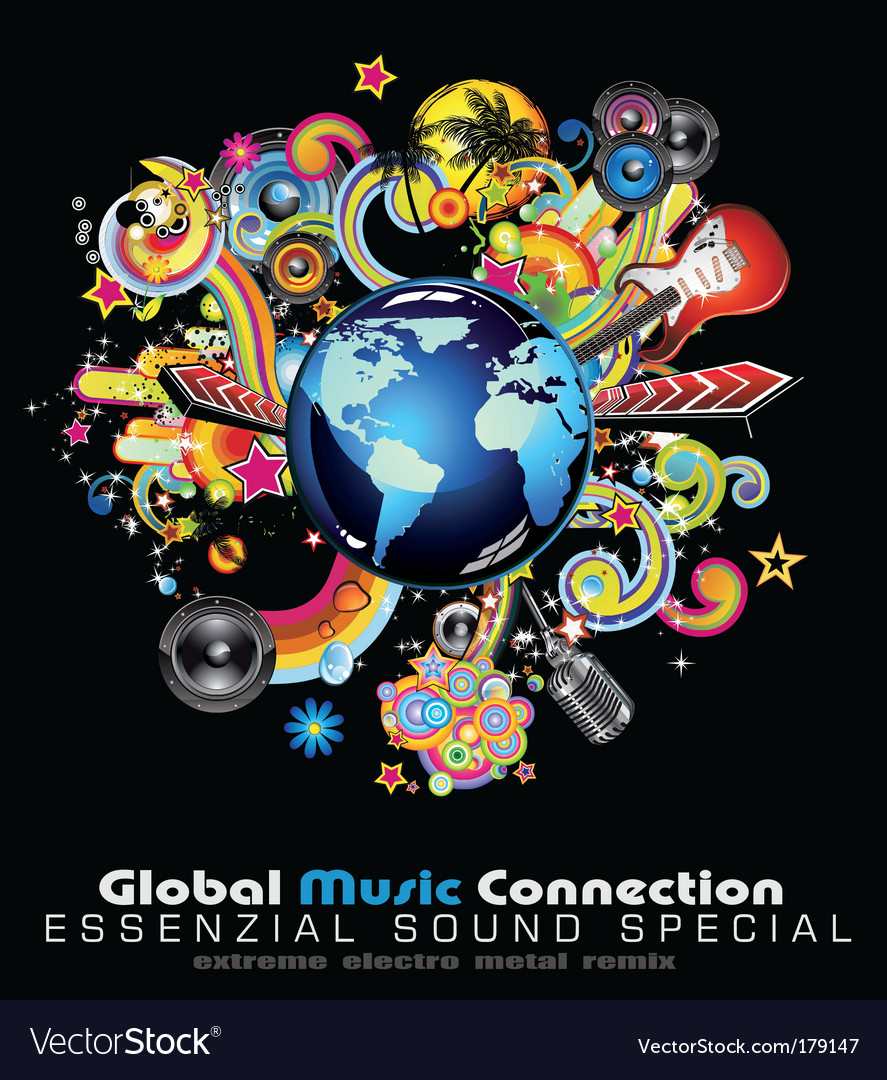 Global music vector | Price: 3 Credit (USD $3)