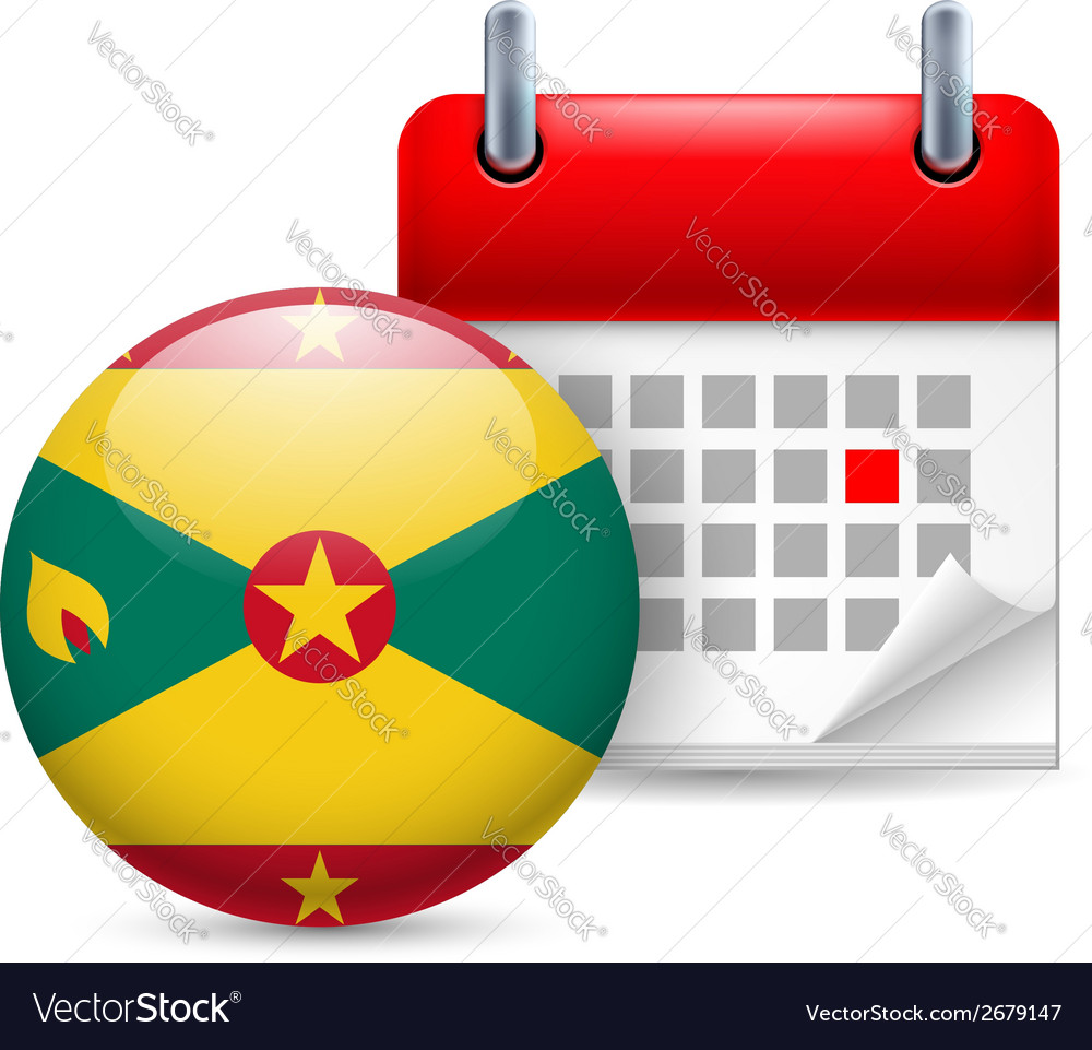 Icon of national day in grenada vector | Price: 1 Credit (USD $1)