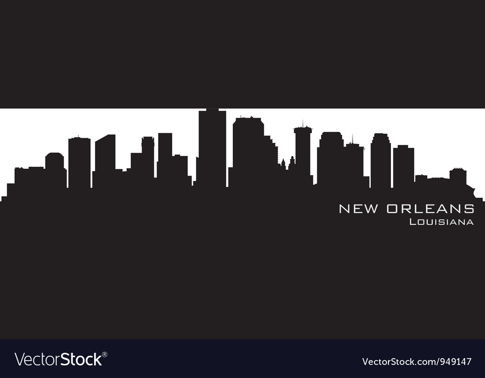 New orleans louisiana skyline vector | Price: 1 Credit (USD $1)