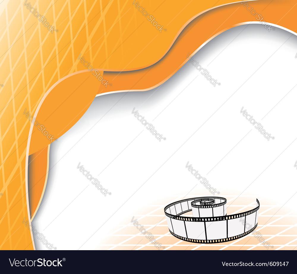Orange background with film strip vector | Price: 1 Credit (USD $1)