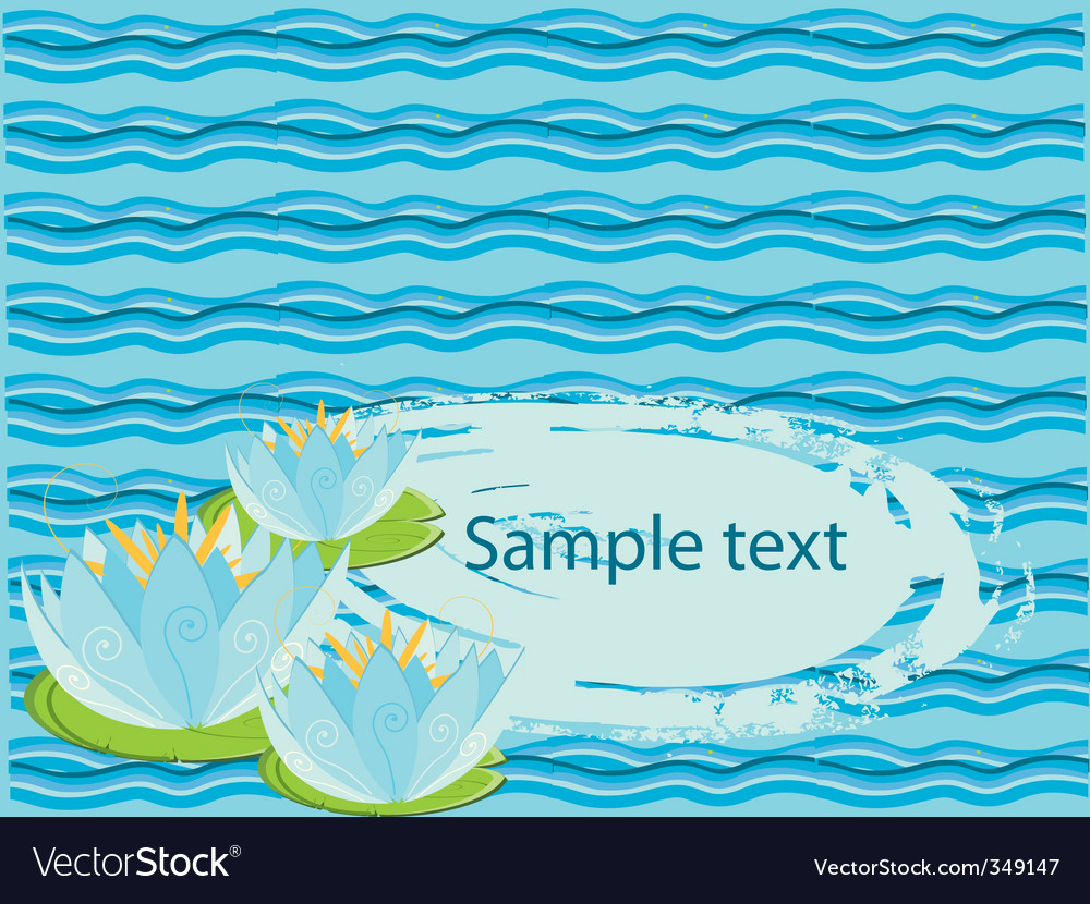 Water lily background vector | Price: 1 Credit (USD $1)