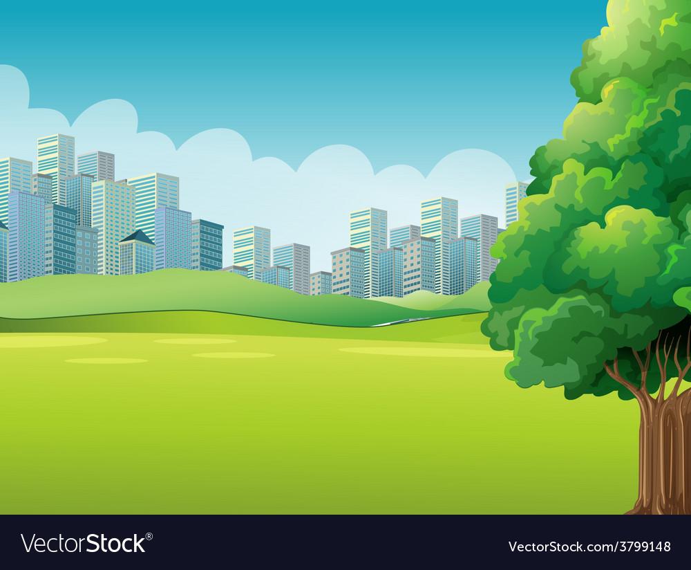 A green landscape vector   Price: 1 Credit (USD $1)