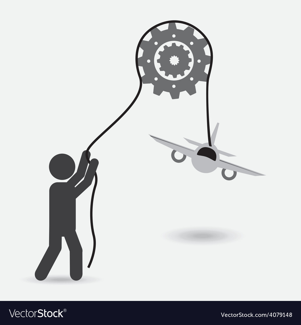 Airplane concept vector | Price: 1 Credit (USD $1)